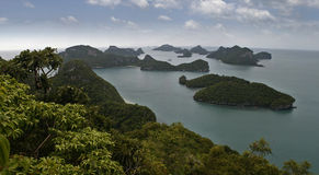 Ang皮带全国海岸公园顶视图在Phang Nga 免版税库存图片