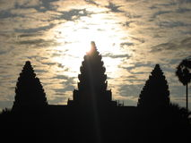 Ang Kor Wat, Cambodia. Capturing early morning sun. Everyday a new experience and every second a thrill. The amazing AngkorWat Royalty Free Stock Photos