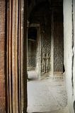 Ang Kor Wat wall carvings. Distinct Ang Kor Wat wall carvings Royalty Free Stock Image