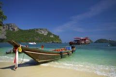 Ang-läderrem öarna i Thailand Arkivfoto