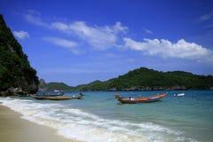Ang-läderrem öarna i Thailand Arkivfoton