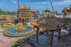 Ang Sila Chinese Temple o Wihan Thep Sathit Phra Kitti Chaloem imágenes de archivo libres de regalías