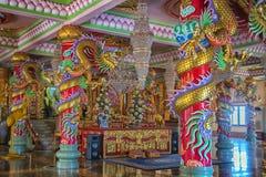 Ang Sila Chinese Temple o Wihan Thep Sathit Phra Kitti Chaloem fotos de archivo libres de regalías