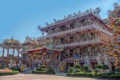 Ang Sila Chinese Temple o Wihan Thep Sathit Phra Kitti Chaloem foto de archivo