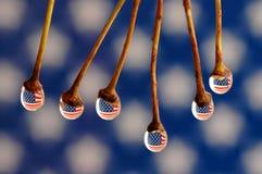 ang tappar flaggan fotografering för bildbyråer