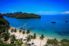 Ang Thong ö, Thailand Arkivfoto