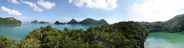 Ang Thong Marine Park - Thailand. A view of the lagoon and ocean from the view point on Mae Koh Island, Thailand Stock Photos