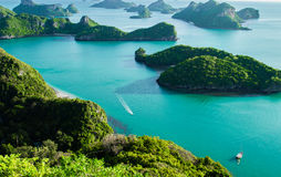 Ang Thong National Marine Park öar i Thailand Arkivfoton