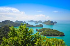 Ang Thong National Marine Park, Tailandia Fotografia Stock Libera da Diritti