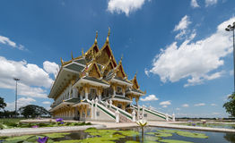 ANG THONG PROVINCE, THAILAND - MAY 31, 2015: Thai archiecture of Royalty Free Stock Photo