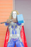 ANG THONG, THAILAND - APRIL 3 :  Thor made of remnant of iron on Royalty Free Stock Photos