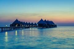 Angaga kurort Ari atol Fotografia Stock
