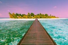 Angaga kurort Maldives Zdjęcia Stock