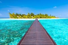 Angaga kurort Maldives Obraz Stock