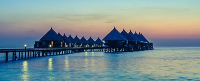 Angaga semesterort Ari Atoll Royaltyfri Foto