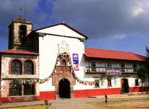 Angahuan church. Principal church of the tarascan town of angahuan in michoacan, mexico Royalty Free Stock Photo