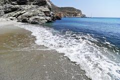 Beach in Folegandros island in Greece Stock Image