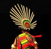 Angami部落头饰,印度 免版税库存照片