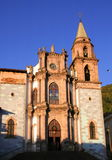 Angangeo church. Church of the town of angangeo in michoacan, mexico Stock Photography