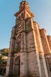 Angangueo, iglesia de Michoacan Imagen de archivo libre de regalías