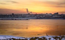 angara πέρα από το ηλιοβασίλεμα Στοκ φωτογραφίες με δικαίωμα ελεύθερης χρήσης