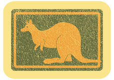Кangaroo. The emblem with the image of a kangaroo Stock Image