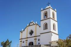 Angastaco教会在路线40,萨尔塔,阿根廷的 库存照片
