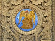 Ange,圣徒前面的Cathedrale, Perigueux (法国) 免版税库存照片