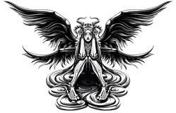 Ange à cornes illustration de vecteur