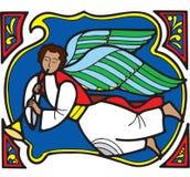 Ange 4 de Noël illustration de vecteur