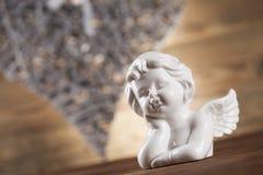 Ange, amour, concept de Saint-Valentin, fond de coeur Image stock