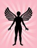 Ange avec des ailes illustration de vecteur