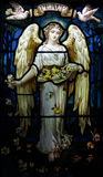 Ange avec des colombes et la paix Images stock