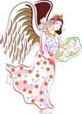 Ange avec l'enfant illustration de vecteur