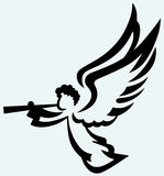 Ange avec la trompette illustration de vecteur