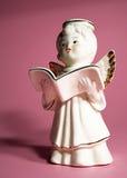 Ange avec le livre Photographie stock