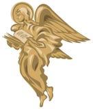 Ange avec le livre illustration libre de droits