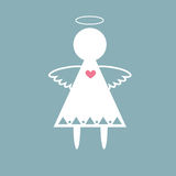 Ange avec le vecteur de coeur Image libre de droits