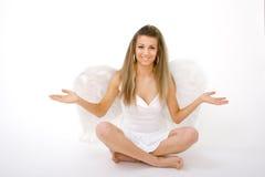 Ange avec les bras tendus photographie stock libre de droits