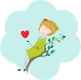 Ange avec un coeur Photographie stock libre de droits