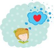 Ange avec un coeur Image libre de droits