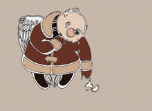 Ange avec un jouet de fourrure-arbre Images libres de droits