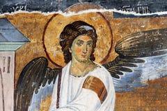 Ange blanc ou Myrrhbearers sur la tombe du Christ Photographie stock