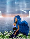 Ange bleu Image libre de droits