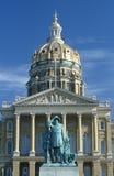 Ange capitolen av Iowa Arkivfoto