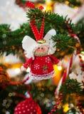 Ange décoratif de Noël Photo libre de droits