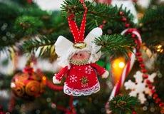 Ange décoratif de Noël Photos stock