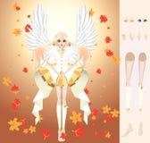 Ange d'automne Photographie stock libre de droits