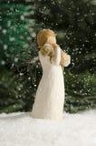 Ange dans la neige Photo stock