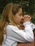 Ange dans la prière 2 Images libres de droits